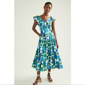 FARM Rio Anthropologie Carmelita Maxi Dress
